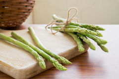 Asparagus on a cutting board Royalty Free Stock Photo