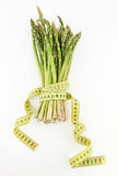 Asparagus and diet. Bunch of asparagus isolated on white background Stock Images
