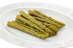 Asparagus on dish Royalty Free Stock Photos