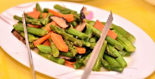 Asparagus dish Stock Photo