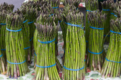 Asparagus on display Stock Photography