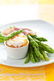 Asparagus ,egg and  ham Royalty Free Stock Photos