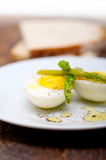 Asparagus and eggs Stock Images