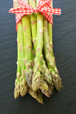 Asparagus with fabric ribbon Stock Image