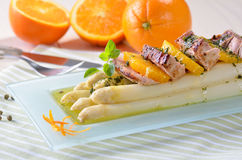 Asparagus with filet Royalty Free Stock Photography
