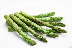 Asparagus fried isolated on white background Stock Image