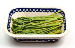 asparagus gotujący obrazy royalty free