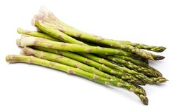 Asparagus. Goup of raw asparagus isolated on white background Royalty Free Stock Photography