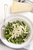 Asparagus with grated parmesan cheese Stock Images