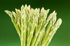 Asparagus on a green Royalty Free Stock Photography