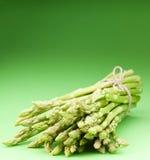Asparagus on a green stock photography