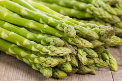 Asparagus. Green asparagus, raw and bundled Royalty Free Stock Photo