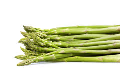 Asparagus green on white background Royalty Free Stock Image