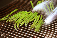 Asparagus on the grill Stock Images