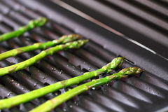 Asparagus on a grill C Stock Images
