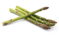 Asparagus Group. Asparagus isolated on white background stock photo