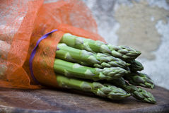 Asparagus group onwood Stock Images
