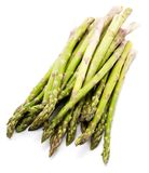 Asparagus. Group of raw asparagus isolated on white background Royalty Free Stock Photos
