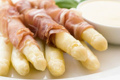 Asparagus with Ham Royalty Free Stock Photos