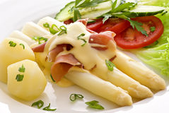 Asparagus with Ham Royalty Free Stock Photo