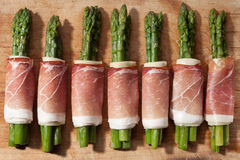 Asparagus and ham with cheese Royalty Free Stock Images
