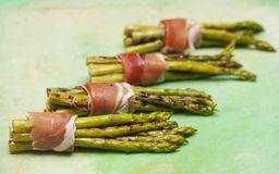Asparagus with ham Royalty Free Stock Image