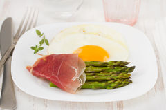 Asparagus with ham Stock Image