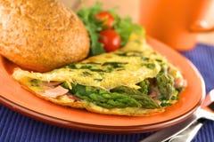 Asparagus and Ham Omelette Stock Photos