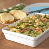 Asparagus-Ham-Pasta Casserole Royalty Free Stock Photo