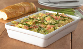 Asparagus-Ham-Pasta Casserole Royalty Free Stock Image