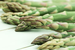 Asparagus heads Stock Photos
