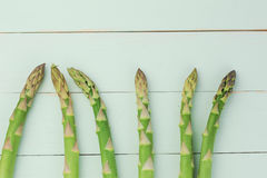 Asparagus heads Royalty Free Stock Images