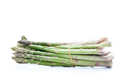 Asparagus heap. Asparagus plant isolated on white background royalty free stock image