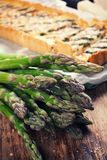 Asparagus for home made asparagus savory tart Royalty Free Stock Image