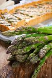 Asparagus for home made asparagus savory tart Stock Image