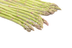 Asparagus. Isolated on a white background Stock Photos