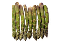 Asparagus in a line Stock Photography
