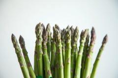 Asparagus. Many asparagus on white background Stock Photo