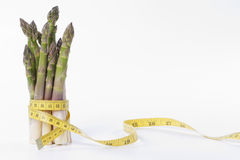 Asparagus and measuring type Royalty Free Stock Photo