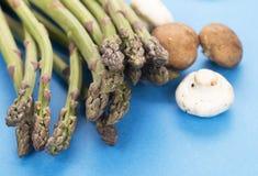 Asparagus and mushrooms Royalty Free Stock Photos
