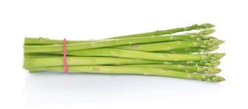 Asparagus na białym tle Zdjęcia Stock