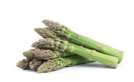 Asparagus na bielu obrazy stock