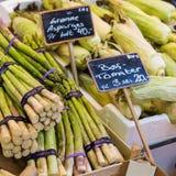Asparagus na rynku w Kopenhaga, Dani Zdjęcie Royalty Free