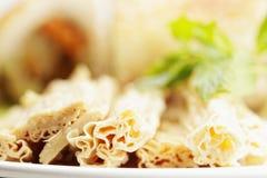 Asparagus na talerzu zdjęcie royalty free