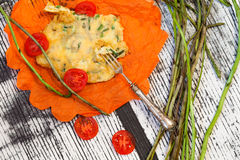 Asparagus Omelette Royalty Free Stock Photography