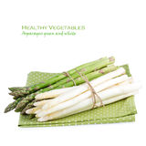 Asparagus over White Stock Images