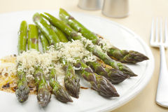 Asparagus with Parmesan and Balsamic Vinaigrette Stock Photos