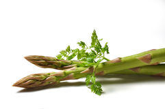 Asparagus and parsley Stock Photography