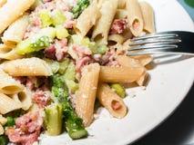 Asparagus pasta Royalty Free Stock Image