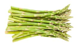 Asparagus. Path isolated on white royalty free stock photo
